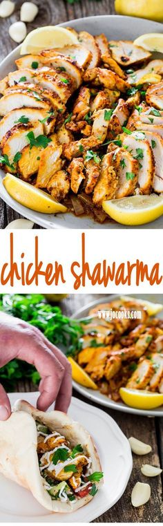 Learn how to make this super Easy Oven Roasted Chicken Shawarma, plus an out of this world garlic sauce and prepare your own chicken shawarma wraps. Beats takeout or fast food!