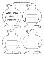 Free printable Penguin Lapbook with lots of mini books from Lapbook Lessons.