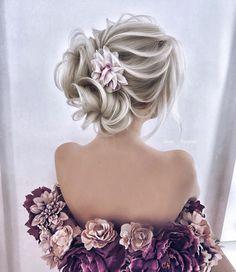 Bridal Hairstyles : Elegant Wedding Hairstyles - New Site Best Wedding Hairstyles, Elegant Hairstyles, Bride Hairstyles, Hairstyle Ideas, Updos Hairstyle, Hair Ideas, Flower Hairstyles, Perfect Hairstyle, Chic Hairstyles