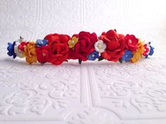 The Fire Goddess Floral Crown on Etsy, $24.99