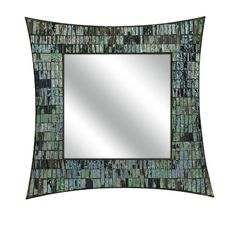 Shades of blue and green blend effortlessly to frame the Kanoe-Chaoue mosaic glass wall mirror. Made of quality materials, this mirror is durable and easy...