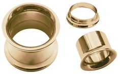 Bild von Ohrpiercing Schmuck Flesh Tunnel Rosè Gold beschichtet, 3-18 mm #piercing #fleshtunnel #ohrpiercing