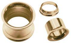 Bild von Ohrpiercing Schmuck Flesh Tunnel Rosè Gold beschichtet, 3-18 mm #piercing #fleshtunnel #ohrpiercing