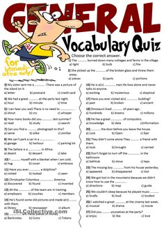 General Vocabulary Quiz - We offer free classes on the Eastern Shore of MD to help you earn your GED - H.S. Diploma.   Contact Danielle Thomas 410-829-6043 dthomas@chesapeke.edu   for more information, or attend any registration session.