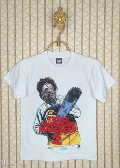 The Texas Chainsaw Massacre 2, 1980s vintage & rare T-shirt, soft white horror movie tee, Leatherface, Tobe Hooper, Screen Stars brand tee by MadrigalleryDotCom on Etsy https://www.etsy.com/uk/listing/360864974/the-texas-chainsaw-massacre-2-1980s