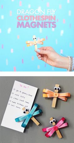 Add some springy decor to your home and keep track of your lists with these sweet & simple DIY dragonfly magnets! You can use crafting basics to create these fun flyers in no time!