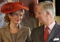 King Philippe and Queen Mathilde of Belgium visit to the province of Namur on October 2, 2013 in Namur, Belgium.