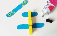 Des avions avec des pinces à linge - Momes.net