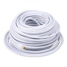 100 ft. Quality CL2 Coaxial Cable - RG6 18AWG 75Ohm Quad Shield, F Type - White. s                                                      100 ft. QualityCL2 Coaxial Cable - RG6 (18AWG) 75Ohm, Quad Shield, with F Type Connector - Various Lenght - White                     TiGuyCo Plus - www.tiguycoplus.ca- www.tiguycoplus.com - Rigaud, Qc J0P 1P0        Item:Cables                  Description: *** NOTE - This is aNEW item!                  100ft. - Suggested Retail Price:$49.99…