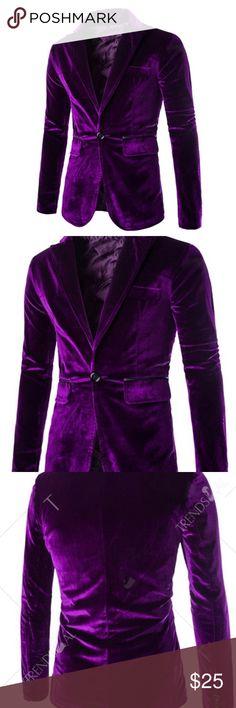 Purple Velvet Blazer / Smoking Jacket Trendy Men's Smoking Jacket. Brand New. Velvet. I have an XL and XXL Jackets & Coats