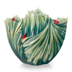 "Franz Collection ""Rain Forest Little Dwellers"" Porcelain Large Vase"