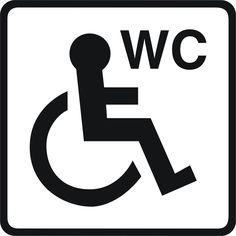 Toilet signs #5 - vinyl disabled wheelchair unisex ladies or gents WC door sticker - Enhance With Vinyl