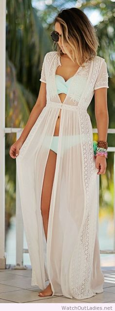 Lace duster over bikini for summertime on imgfave