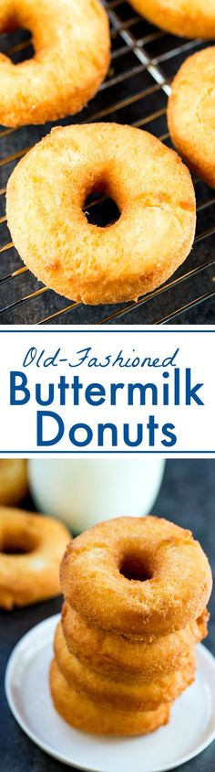 Old-fashioned Buttermilk Donuts - crispy on the outside and full of simple, fresh flavor.