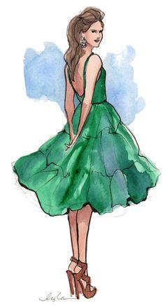 I love green dresses.