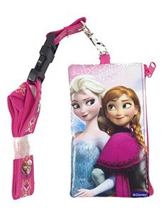 Disney Frozen Elsa and Anna KeyChain Lanyard Fastpass ID Ticket Holder Pink ** To view further for this item, visit the image link.Note:It is affiliate link to Amazon.