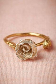 BHLDN Floral Wedding Ring