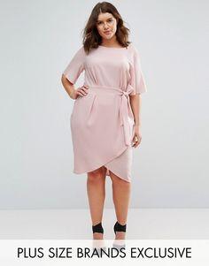 $73.00 + free shipping/returns on ASOS.com (March 21) | Closet Plus Wrap Front Dress. PLUS SIZE dress.