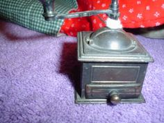 COLLECTIBLE MINIATURE COFFEE GRINDER REPLICA -- Click affiliate link Amazon.com on image for more details.