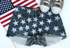 DIY Clothes DIY Refashion DIY Clothes Refashion: DIY Star Shorts