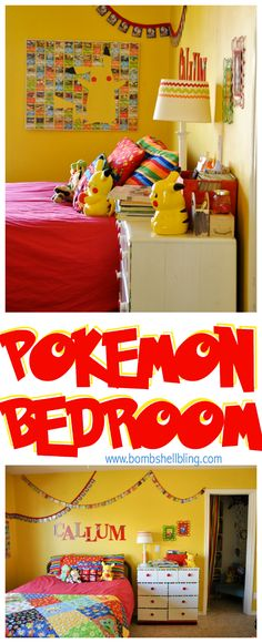 Pokemon Bedroom - I love all of the details!!
