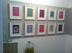 Downstairs toilet, rob Ryan, laser cut cards, ikea frames, next,