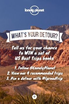 A BIT MORE DETAIL: Pin the detour you recommend to one of your own public travel related boards with 25 words or less on why you chose it. Be sure to include the #LProadtrip hashtag to your detour pin – we'll keep an eye on the Pinterest hashtag as the entries come in. With the detour pins you do enter, try to make them easily drivable from the routes we've proposed, and don't forget to add the location. Click this image for the T&Cs. Entries close June 30, 2014.