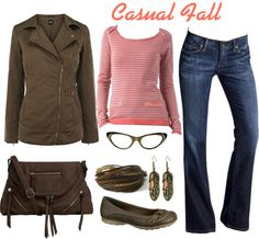 """""""Casual Fall"""" by riftkind ❤ liked on Polyvore"""
