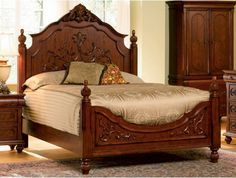 Coaster Isabella Bedroom Collection Solid Hardwood Queen Size Bed The carved details of this headboard and footboard bed set will create an incredible focal Bedroom Frames, Wood Bedroom Sets, Wood Bedroom Furniture, Bedroom Ideas, Family Furniture, Furniture Decor, Furniture Design, Cal King Bedding, Queen Size Bedding