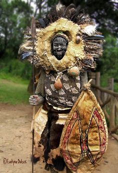 Africa | Portrait of a Kikuyu Warrior. Kenya | © Evelyne Dubos