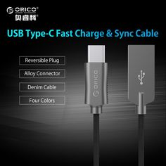 ORICO USB Type A to C Cable Hi-speed USB Sync & Charging Cable for Huawei P9 Macbook LG G5 Xiaomi Mi 5 HTC 10 More Zinc Alloy //Price: $5.19//     #shopping