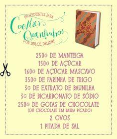 Dulce Delight lista os ingredientes dos Cookies (Foto: Arte: Gabi Freitas)
