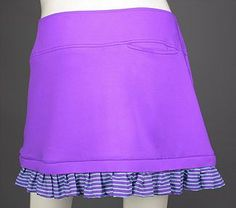Summer  ladies golf clothing, still arriving daily at From the Red Tees:   Purple Interchang...  Be the first to have!  http://www.fromtheredtees.net/products/copy-of-interchangeable-ruffle-skort?utm_campaign=social_autopilot&utm_source=pin&utm_medium=pin