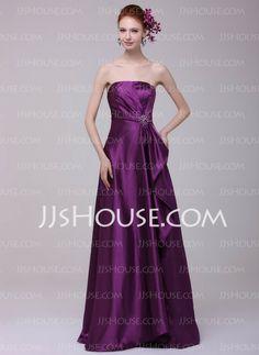 Evening Dresses - $128.49 - A-Line/Princess Strapless Floor-Length Charmeuse Evening Dresses With Ruffle Beading (017016197) http://jjshouse.com/A-Line-Princess-Strapless-Floor-Length-Charmeuse-Evening-Dresses-With-Ruffle-Beading-017016197-g16197