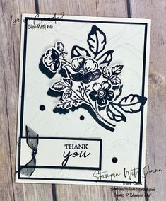 Shaded Summer Stampin Up Stampin With Diane Evans Flower Silhouette, Stampin Up Cards, Free Gifts, Thank You Cards, Card Making, Paper Crafts, Evans, Shades, Black And White