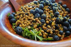 Culinary Adventures with Camilla: Quinoa & Navy Bean Salad with Lemon, Arugula, and Bluberries