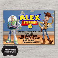 Toy Story Birthday invite,Toy Story,Toy Story invite,JPG file,Invite,Invitation,Toy Story party,Woody,Buzz,Paintball,DPP135