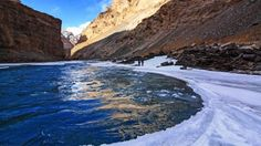 In the summer, the Zanskar River runs wild between the deep canyons of the Himalayas. In the winter, it becomes a road of ice – and the only escape.