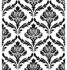 Seamless damask pattern vector - by Seamartini on VectorStock®