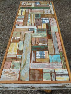 Full Circle Woodcraft upcycled furniture table top