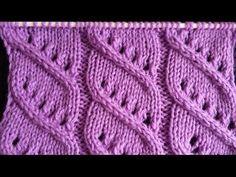 Pletenje - 3. Ažur bod | Knitting tutorial - Easy Diagonal Openwork Stitch - YouTube