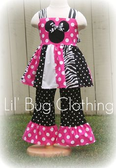 Zebra and dots (pink and Black & Whtie