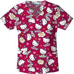 9075e2eab99 Hello Kitty - Hello Kitty Glitter V-neck Top - Walmart.com. Miss  KittyMedical AssistantSanrio Hello KittyScrub TopsNursing ScrubsV ...