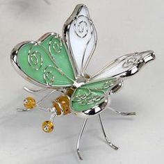 Schmetterling aus Tiffany Metall in grün Tiffany, Metal, Figurine, Decorations