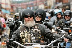 Thousands of spectators lined the streets of Sheringham in Norfolk to see more than 500 Harley Davidson motorbikes riding into town.
