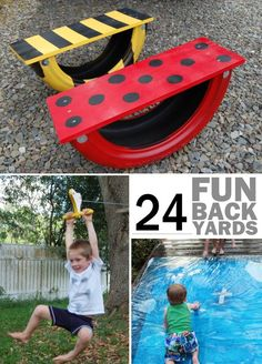 diy back yard spaces - make your back yard into a playground for your kids!