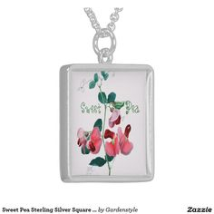Sweet Pea Sterling Silver Square Necklace to bedazzle a Sweet Pea pocket Tee!