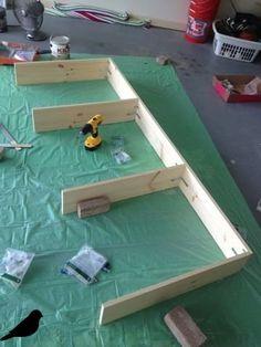 Obertopia: Sofa Table DIY – Wohnzimmer mit Diy - Best Diy Home Crafts Diy Furniture Sofa, Diy Sofa Table, Diy Couch, Sofa Tables, Pallet Tables, Console Table, Resin Furniture, Office Furniture, Furniture Ideas