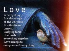 Love is everything. It is the energy of the Universe. It is the divine, unseen, unifying force that holds everything together. Love belongs to everyone and everything. God is Love! Love Is Everything, All You Need Is Love, Just For You, Great Quotes, Love Quotes, Inspirational Quotes, Motivational, A Course In Miracles, Meaning Of Love