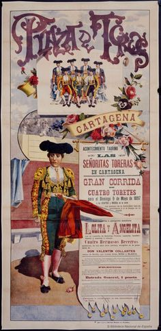 Reprint of a Vintage Spanish Bull Fighting Poster Vintage Movies, Vintage Posters, Films Récents, Poster Prints, Art Prints, The Day Will Come, Star Art, Language Activities, Murcia